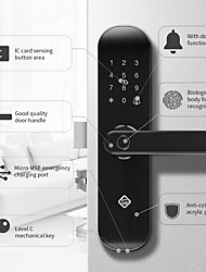 cheap -PINEWORLD Q202 Aluminium alloy lock / Fingerprint Lock / Intelligent Lock Smart Home Security iOS / Android System Sound adjustable / Fingerprint unlocking / Password unlocking Household / Home