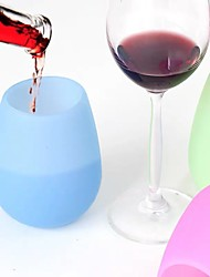 cheap -Silicone Wine Glasses Unbreakable Outdoor Rubber Wine Cups Clear Silicone Safe Shatterproof Glass Set of 2 and 4 for Travel Outdoor Picnic Pool Boat Camping