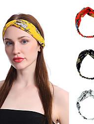 cheap -2 pcs Cross-printed Hair Band Headdress Wholesale Chiffon Yoga Sports Wash Hair Band Retro Headband
