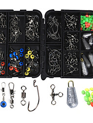 cheap -160 pcs Fishing Hooks Fishing Snaps & Swivels Fishing Beads Fishing Accessories Set Lead Metal ABS Easy to Carry Easy to Use Other