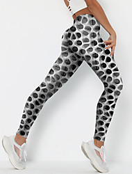 cheap -Women's Colorful Fashion Comfort Weekend Gym Leggings Pants Spot 3D Print Ankle-Length Sporty Elastic Waist Print Black / White