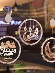 cheap -New Round Moon Castle Ramadan Festival Decoration Night Light Islam Ramadan Festival Home Decoration Lamp Muslim Party Eid Adha Decoration Gifts