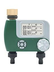 cheap -Gardening Automatic Watering Irrigation Solenoid Valve Controller Garden Plant Water Spraying Dual-way Timer