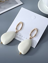 cheap -Women's Earrings Vintage Style Fashion Stylish Vintage European Wooden Earrings Jewelry White / Coffee For Party Evening Street Prom Date Festival