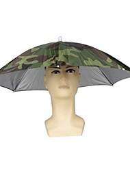 cheap -Outdoor Fishing Cap Foldable Umbrella Hat Fishing Hat Hiking Camping Beach Headwear Sun Cap Sunscreen Shade Umbrella