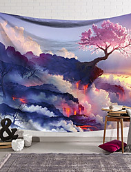 cheap -Nature Landscape Wall Tapestry Art Decor Blanket Curtain Hanging Home Bedroom Living Room Decoration  Modern Colourful