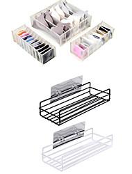 preiswerte -2-fach lochfreies Aufbewahrungsregal für Unterwäsche 3-fach Schubladenunterteiler Faltbare Aufbewahrungsboxen mit 6/7/11 Fächern für Unterwäsche-BH-Socken zum Binden