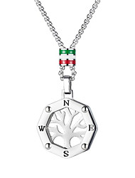 cheap -Women's Men's Pendant Necklace Classic Tree of Life Fashion Titanium Steel Silver 55 cm Necklace Jewelry 1pc For