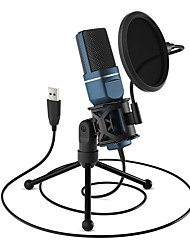 cheap -SF-777 USB Microphone Computer Condenser PC Gaming Mic with Tripod Stand & Pop Filter for Streaming Podcasting Vocal Recording Compatible with Laptop Desktop Windows Computer