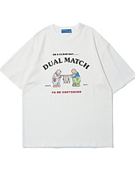 cheap -Men's Unisex T shirt Hot Stamping Graphic Prints Bear Plus Size Print Short Sleeve Casual Tops 100% Cotton Basic Casual Fashion White Black Red