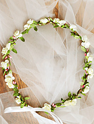 cheap -Grosgrain / Non-woven Paper Hair Accessory / DIY  Headpieces with Flower 1 Piece Wedding / Outdoor Headpiece