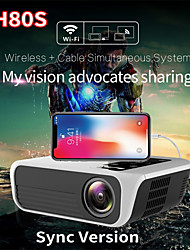 cheap -TH80 LED Projector WIFI Projector 1080P (1920x1080) 6500 lm Android 7.1 Compatible with iOS and Android