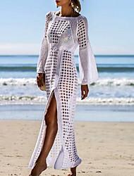 cheap -Women's Cover Up Swimwear Swimsuit Lace White Black Beige Swimwear Bathing Suits / Summer