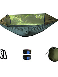 cheap -Camping Hammock with Pop Up Mosquito Net Outdoor Breathability Folding Nylon for 1 - 2 person Camping Army Green 240*140 cm Pop Up Design
