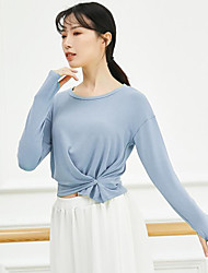 cheap -Activewear Top Solid Splicing Women's Training Performance Long Sleeve Polyester