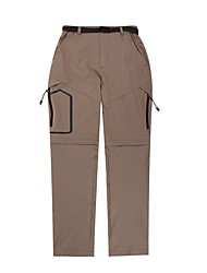 cheap -Men's Hiking Pants Trousers Convertible Pants / Zip Off Pants Solid Color Summer Outdoor Tailored Fit Waterproof Quick Dry Breathable Wear Resistance Bottoms Army Green Grey Khaki Black Hunting