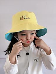 cheap -1pcs Kids Unisex Basic Birthday / Casual / Daily Wear Cartoon Stylish Cotton Hats & Caps Black / Blue / Yellow S