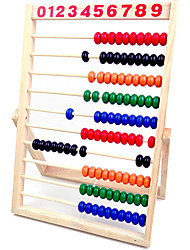 cheap -Wooden Counting Number Frame  10 Rows Abacus for Kids Learning Math (11-1/2-Inch)