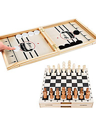 cheap -Fast Sling Puck Game Paced & International Chess, 2 in 1 Table Desktop Battle, Large Winner Board Game Toys Ice Hockey Game for Adults and Kids, Parent-Child Game (22 x 11 in)