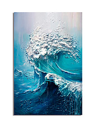 cheap -Oil Painting Hand Painted Vertical Abstract Modern Stretched Canvas