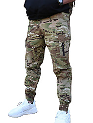 cheap -Men's Tactical Cargo Pants Hiking Pants Trousers Waterproof Ventilation Quick Dry Breathable Fall Spring Camo / Camouflage Cotton for Camouflage Camouflage Gray Black XS S M L XL