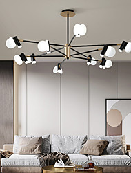 cheap -3/6/8/12 Heads LED Pendant Light Chandelier Modern Nordic Style Design Chandelier Layered Modern Art Style DIY Adjustable Rotary Ceiling Chandelier AC220-240V