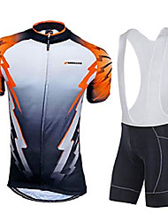 cheap -cycling bibs jersey bicycle shirt lycra bib shorts for men asia xl/us l orange multi