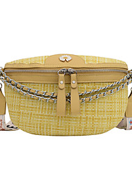 cheap -Women's Bags Fanny Pack Daily Bum Bag MessengerBag Black Yellow Blushing Pink Khaki