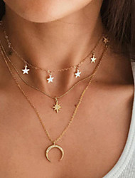 cheap -Women's Pendant Necklace Chain Necklace Fashion Alloy Gold 36+5 cm Necklace Jewelry 1pc For / Layered Necklace