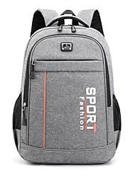 cheap -Men's Unisex Nylon Commuter Backpack Large Capacity Zipper Daily Backpack Wine Black Dark Blue Gray