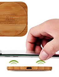 cheap -Wireless Charger Universal Over-temperature Protecting Bamboo Furniture Desktop Adapter for iPhone 12 Pro Max 11 Pro Samsung S21 S20 Oneplus Xiaomi Huawei Wireless Charging