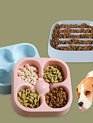 cheap -Dog Cat Bowls & Water Bottles / Feeders / Feeding Bowl Plastic Adjustable / Retractable Durable Solid Colored Blue Pink Gray Bowls & Feeding