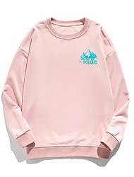 cheap -Women's Pullover Sweatshirt Stone Print Daily Other Prints Basic Hoodies Sweatshirts  White Blue Blushing Pink