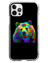 cheap -Creative Bear Patterned Case For Apple iPhone 12 iPhone 11 iPhone 12 Pro Max Unique Design Protective Case Pattern Back Cover TPU