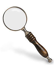 cheap -Magnifier Magnifying Glass Set Handheld Antique 10 Reading Inspection Macular Degeneration 70 mm Metal Kid's Adults' Seniors