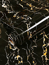 cheap -Smooth Black Stainless Steel Marble Pattern Skirting Line Living Room Kitchen Bathroom Waist Line Decoration Stickers Stairs Self-adhesive Wall Stickers 60*300cm