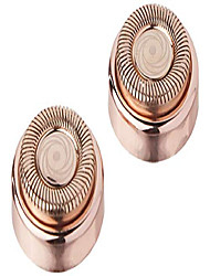 cheap -flawless facial hair remover replacement heads, 2 count, rose gold, retail packaging