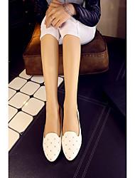 cheap -Women's Flats Flat Heel Round Toe PU Synthetics White