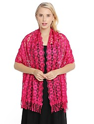 cheap -Sleeveless Shawls / Elegant Polyester Special Occasion / Party / Evening Women's Wrap With Embroidery