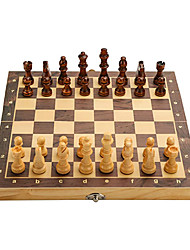 "cheap -15"" x 15"" Magnetic Wooden Folding Chess Set with 2 Extra Queens, Handmade Game Board Interior for Storage for Adult Kids Beginner Large Chess Board"