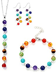 cheap -Women's Jewelry Set Beads Stylish Boho Earrings Jewelry Rainbow For Gift Festival 1 set