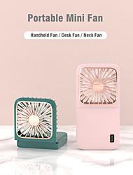 cheap -Multifunction Neck Hanging Outdoor Small Pocket USB Fan Portable Handheld Rechargeable Mini Foldable Desk Fan