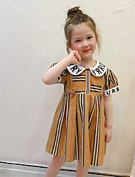 cheap -manufacturers supply girls new fashion striped skirt commuter skirt small dress doll collar cute dress in stock