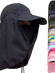 cheap -Hiking Hat Flap Hat Fishing Cap UV 360° Solar Protection Breathable Quick Dry Anti-Mosquito Removable Neck & Face Flap Cover Caps Spring Summer Men's Women's Camping Hiking Hunting Fishing