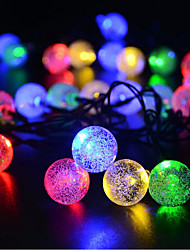 cheap -Solar Ball String Lights Outdoor Waterpoof 6.5m Lighting 30 LEDs White Multi Color Christmas New Year's Outdoor Indoor Holiday Solar Powered