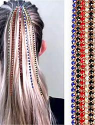cheap -Women's Girls' Hair Jewelry For Birthday Party Festival Tassel Imitation Diamond Alloy White Black Blue 1pc