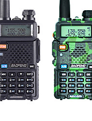 cheap -1PCS Baofeng UV-5R Walkie Talkie UHF VHF Portable CB Ham Radio Station Amateur Police Scanner Radio Intercome HF Transceiver UV5R Earphone