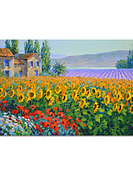 cheap -Oil Painting Hand Painted Abstract Garden Landscape by Knife Canvas Painting Comtemporary Simple Modern without Frame Painting Only