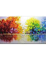 cheap -Mintura® Large Size Hand Painted Abstract Trees Landscape Oil Painting On Canvas Modern Pop Art Wall Picture For Home Decoration (Rolled Canvas without Frame)