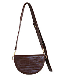 cheap -Women's Bags PU Leather Crossbody Bag Hobo Bag Chain Daily 2021 Handbags Chain Bag coffee Black Brown